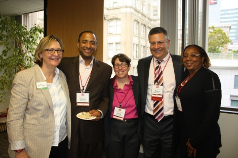 VLSC Board Member Sally Elkington, Nicolas King, ACBA CEO Tiela Chalmers, Board President Bob Frassetto and Board Member Nedra Shawler