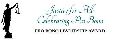 Pro bono leadership award