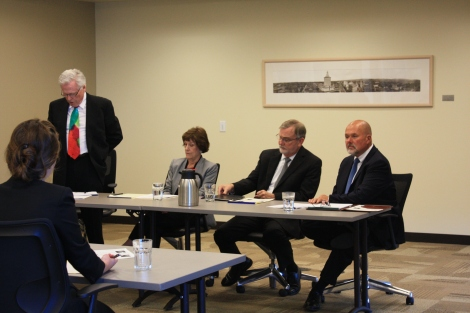 The Trial Practice Section held a training on June 19th, Mediating the Smaller Case: A Moderated Panel Discussion at Wendel Rosen. Presenters Judge James R. Lambden, Judge Bonnie Sabraw, and Charles A. Hansen discussed how to prepare for, participate in, and successfully conclude a mediation in a smaller case, moderated by Eric Ivary.