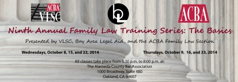 Ninth Annual VLSC Family Law Training Banner Updated