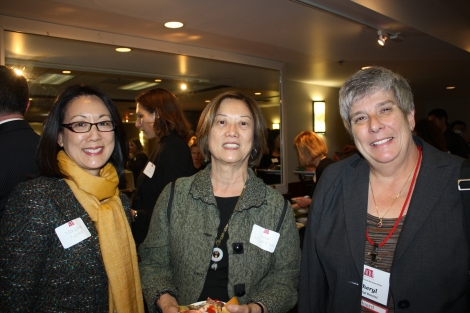 Mayor Margaret Fujioka, Judge Lee and Cheryl Pncini