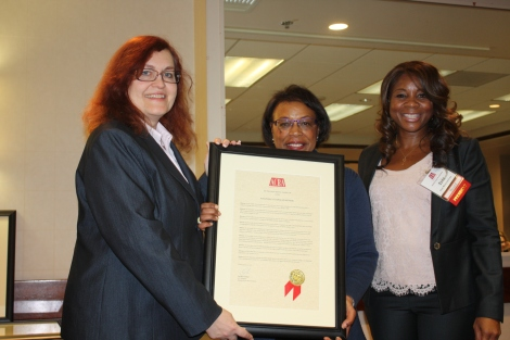 Award Recipient for Judge Victoria Kolakowski, Judge Smith and Toni Mims-Cochran