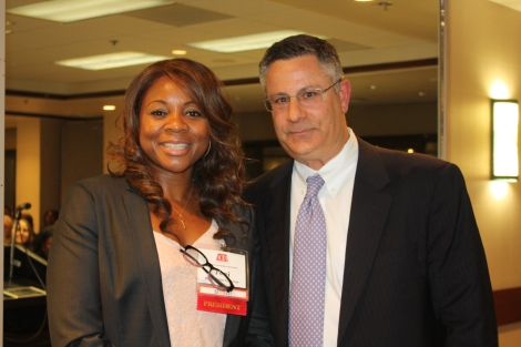 Incoming President Toni Mims-Cochran and 2014 President Robert Frassetto