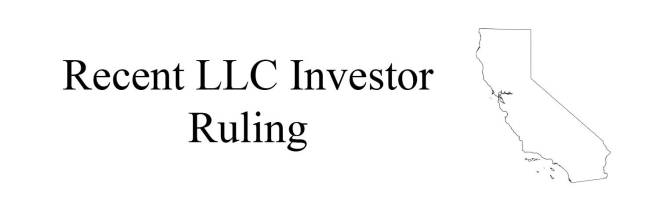 When is an LLC Investor Doing Business in California?