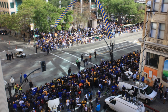 Dubnation Warriors Parade From The Acba Office 187 Alameda