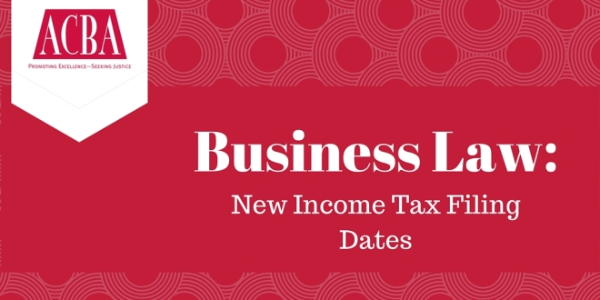 Twitter New Income Tax Filing Dates for Corporations