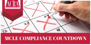MCLE COMPLIANCE COUNTDOWN Twitter