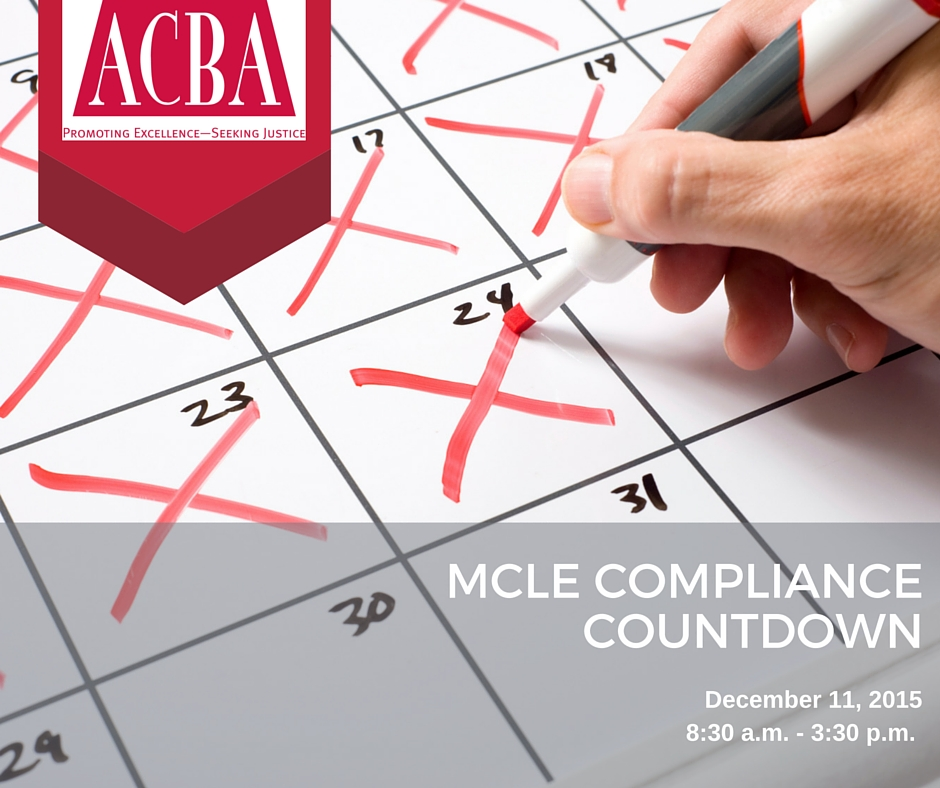 MCLE COMPLIANCE COUNTDOWN - FB