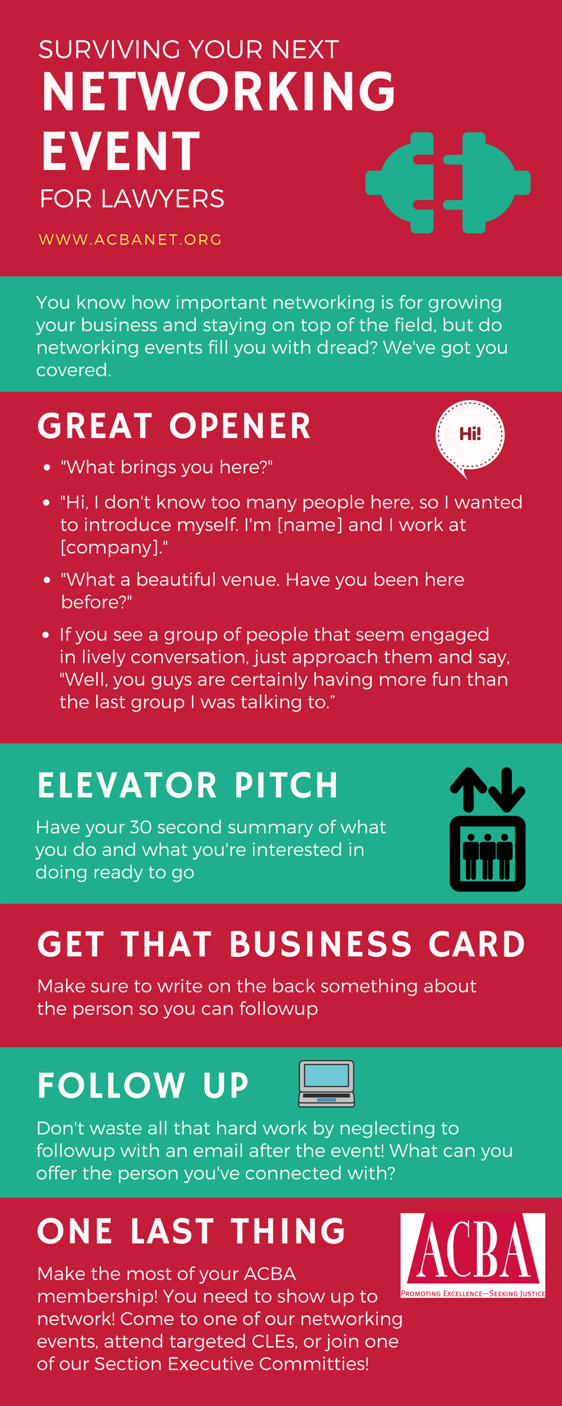 Networking for Introverts Infographic